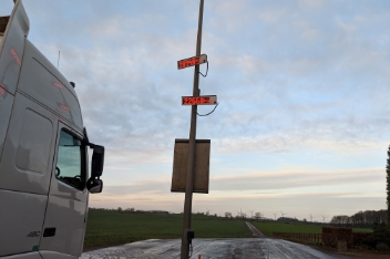 lorry and signage